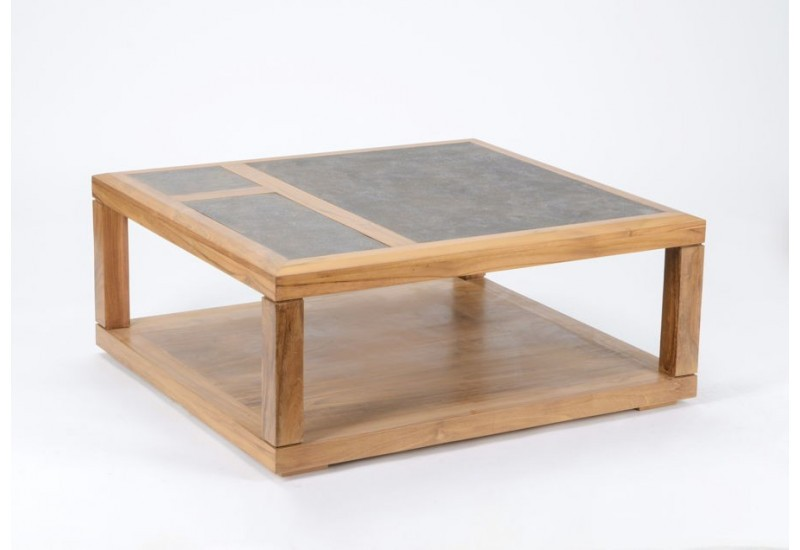 Table basse plateau pierre de lave for Table basse pierre