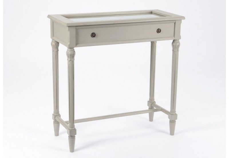 console vitrine avec pieds cannel s romantique ypres amadeus amadeu. Black Bedroom Furniture Sets. Home Design Ideas