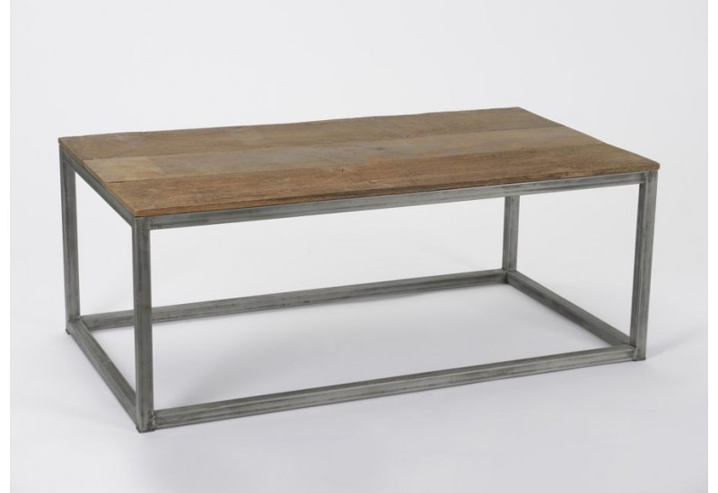 Table basse recycl industrielle rectangle amadeus amadeus - Table basse amadeus ...