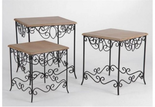 Set de 3 Tables Compiègne AMADEUS