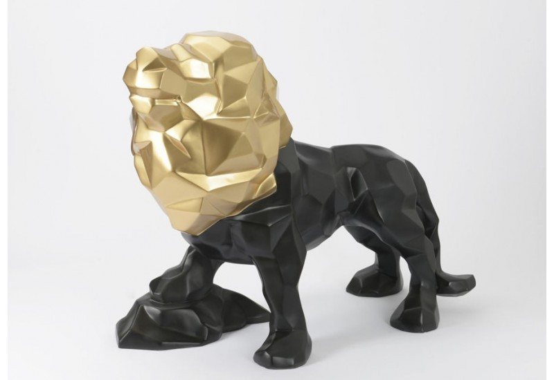 statue lion xxl en cuivre noir 160 cm amadeus amadeus 20052. Black Bedroom Furniture Sets. Home Design Ideas