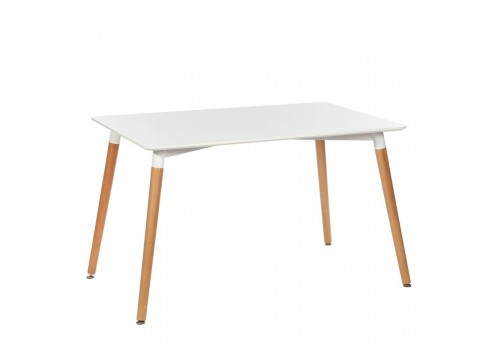 Petite table rectangulaire blanche style scandinave 120 X 80 X 75 CM By Auxportesdeladeco