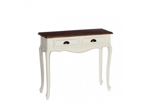 petite console 2 tiroirs romantique blanche minerva 90 x 30 x 80 cm. Black Bedroom Furniture Sets. Home Design Ideas