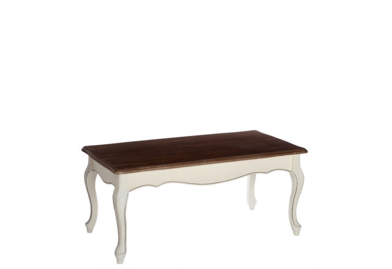 Table basse rectangulaire romantique blanche minerva 110 x 60 x 50 - Table basse blanche rectangulaire ...