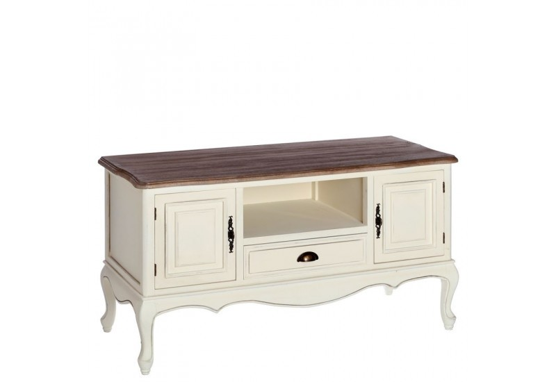 meuble tv romantique blanche minerva 120 x 50 x 66 cm by. Black Bedroom Furniture Sets. Home Design Ideas