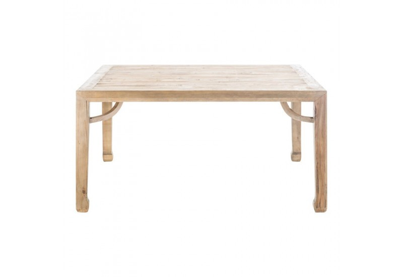 Table basse carr en bois brut naturel vical home vical home 20661 - Table basse carre bois ...