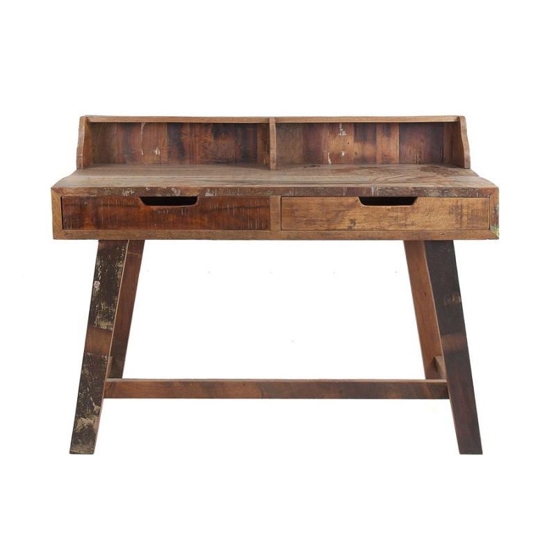 bureau campagne en bois brut multicolore vical home vical. Black Bedroom Furniture Sets. Home Design Ideas