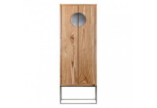 armoire 2 portes coloniale en bois exotique sur socle inox vical ho. Black Bedroom Furniture Sets. Home Design Ideas
