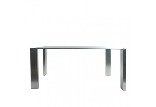Table rectangulaire 160 cm en verre Vical Home
