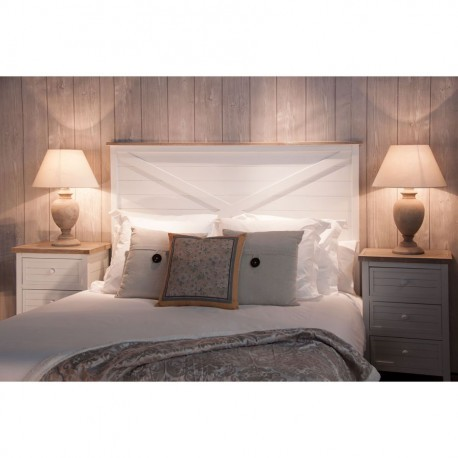 t te de lit nature 160 cm en bois blanchie vical home vical home vh. Black Bedroom Furniture Sets. Home Design Ideas