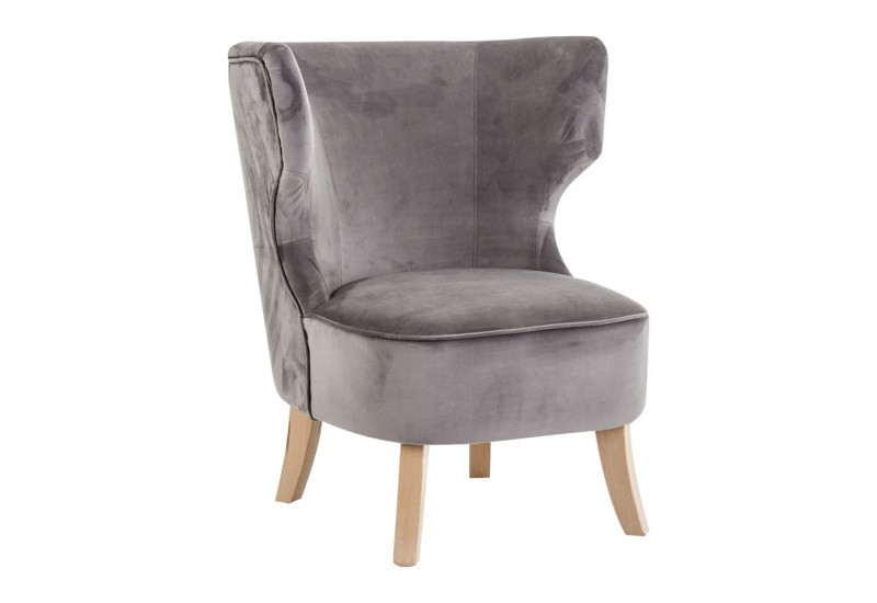 Chauffeuse chic en velours gris Vical Home