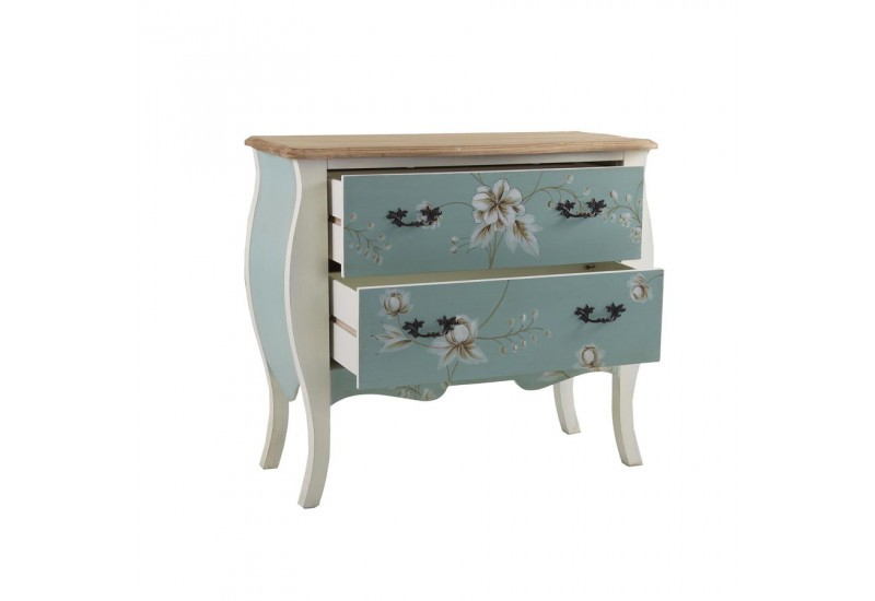 Interesting commode baroque chic florale tiroirs turquoise et blanc vical home with commode - Commode baroque maison du monde ...