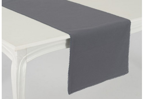 Chemin de table capucine anthracite Amadeus