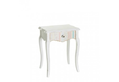Table de chevet bohème chic en bois multicolore 46 X 35 X 58,50 Cm