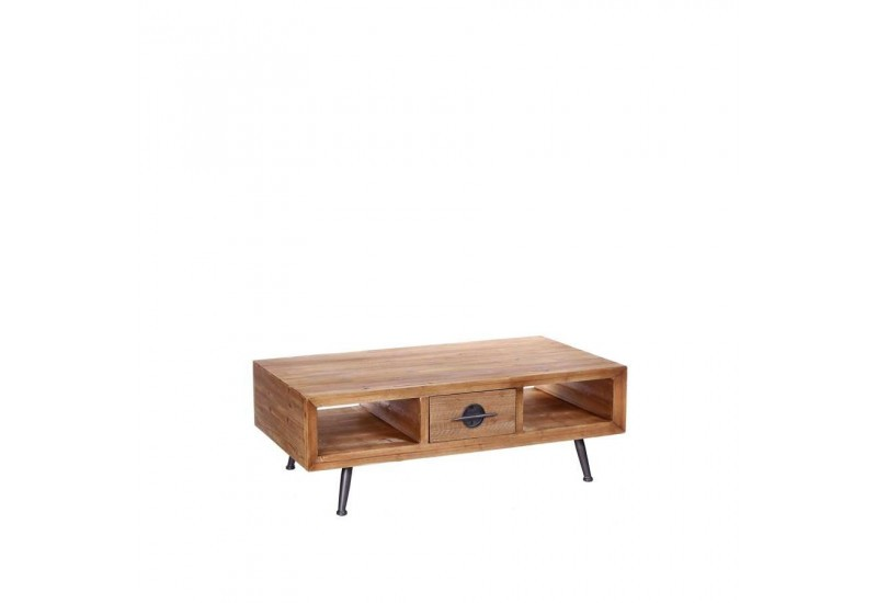 Table basse manhattan en bois naturel 110 x 60 x 38 cm for Table basse en bois naturel