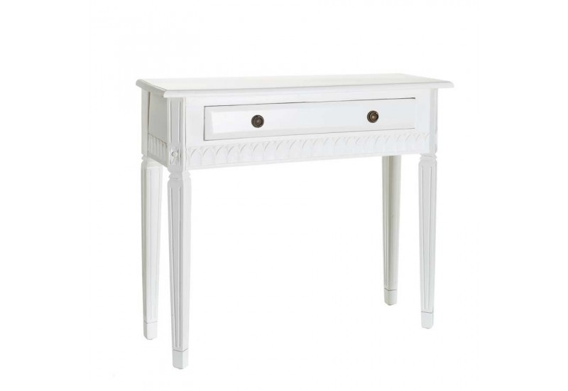 console roman 1 tiroir en bois blanc 90 x 30 x 80 cm aixi. Black Bedroom Furniture Sets. Home Design Ideas