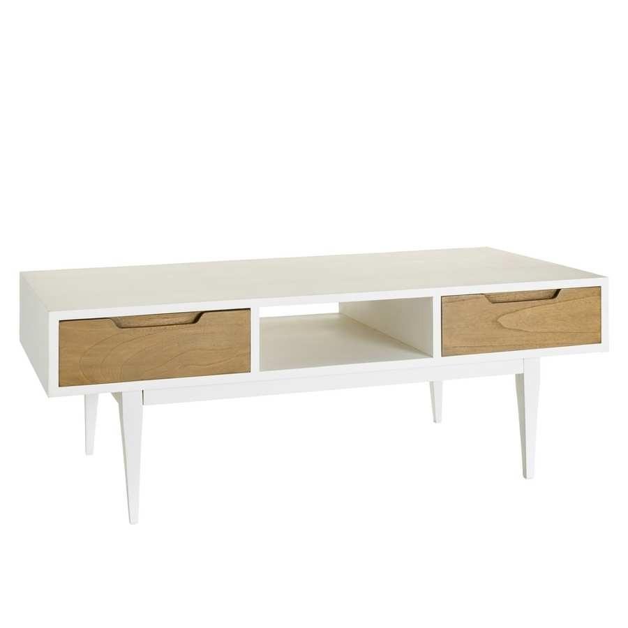 Table Basse Blanche Scandinave Rectangulaire Boutique Gain De Place Fr