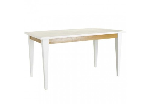 Table À Manger  scandinave en bois Naturel-Blanc Bois 140 X 85 X 76 Cm