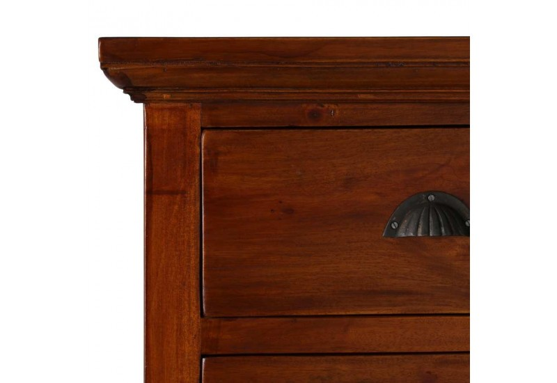commode colonial 5 tiroirs acajou 100 x 50 x 90 cm aux portes de la. Black Bedroom Furniture Sets. Home Design Ideas