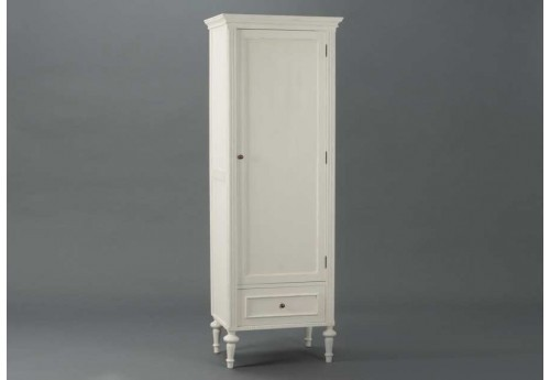 bonneti re romantique blanche 1 porte et tiroir perle amadeus 20949. Black Bedroom Furniture Sets. Home Design Ideas