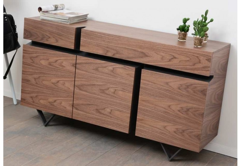 buffet moderne canyon m tal et bois amadeus 20989. Black Bedroom Furniture Sets. Home Design Ideas