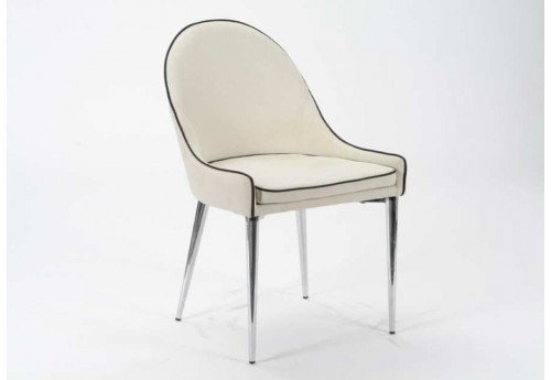 Chaise moderne blanche Elis