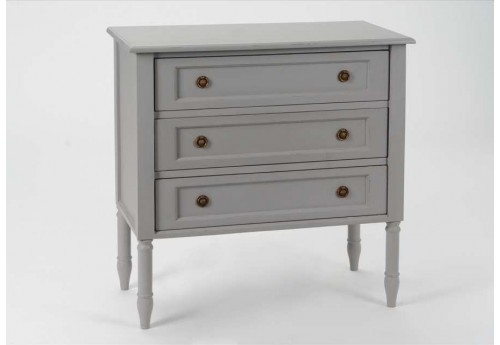 Commode de charme Grise 3 tiroirs Brice