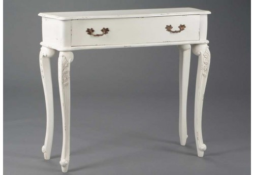 Console baroque chic blanche Fontainebleau
