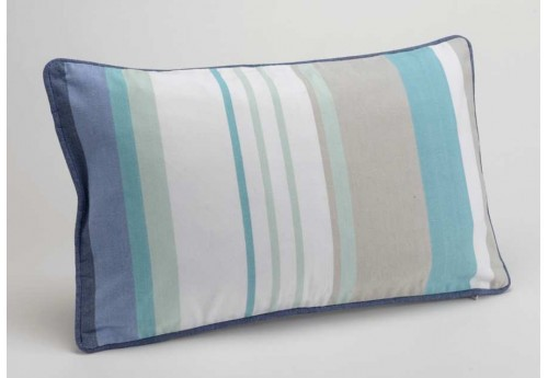 Coussin déhoussable rectangle bleu St Barth 30X50 cm