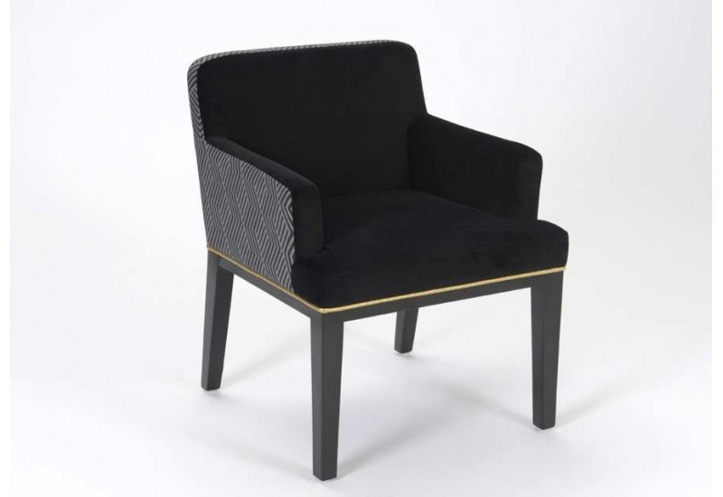 fauteuil chic gris noir et or privat klub amadeus 21337. Black Bedroom Furniture Sets. Home Design Ideas