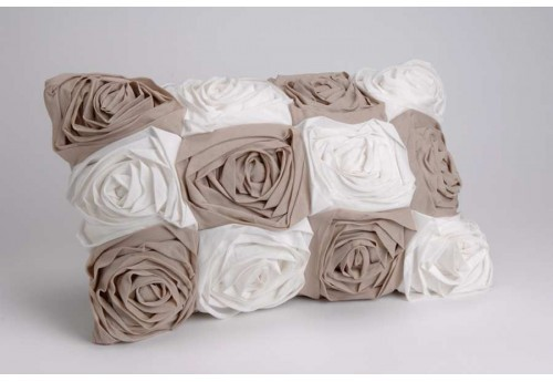 Housse + Cousssin 30X50 Multirose Taupe