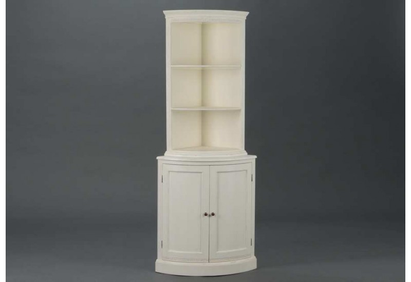 meuble d 39 angle 2 corps patin e blanc perle amadeus am 119256. Black Bedroom Furniture Sets. Home Design Ideas
