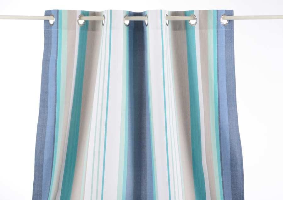 Rideau Oeillets rayures rêves Bleus 110X250 cm Amadeus AM-118929