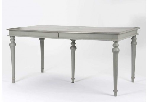 Table manger avec rallonges 160 210 cm grise anselme for Table a manger 160 cm avec rallonge