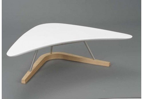 Table basse blanche design Boomerang