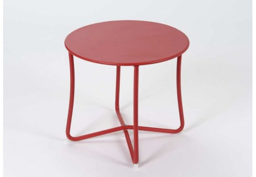 Table basse ronde rouge epoxy amadeus 21713 - Table basse ronde rouge ...