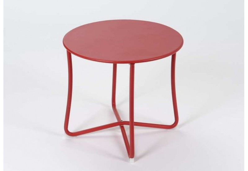 Table basse ronde Rouge Epoxy
