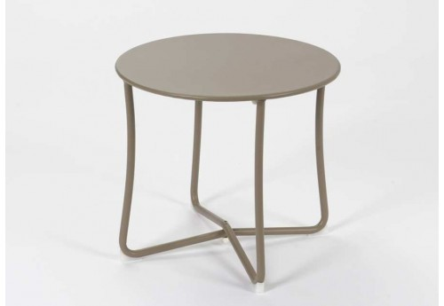 Table basse ronde Taupe Epoxy