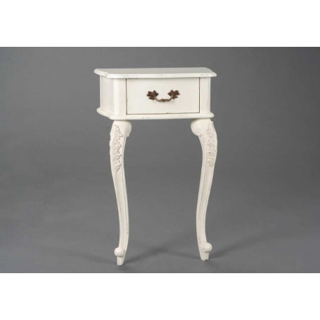 table de chevet murale galb e blanche fontainebleau. Black Bedroom Furniture Sets. Home Design Ideas