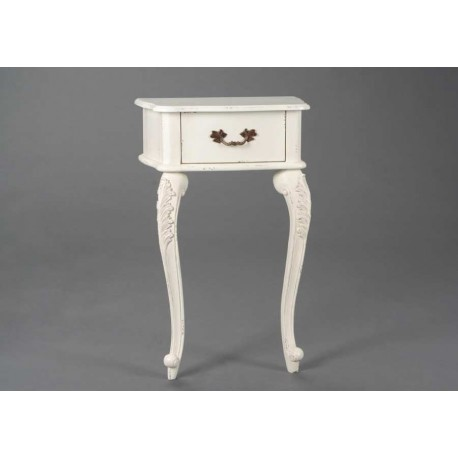 table de chevet murale galb e blanche fontainebleau amadeus am 120068. Black Bedroom Furniture Sets. Home Design Ideas