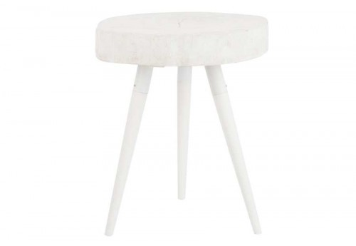 bout de canap scandinave 3 pieds blanc 42x42x60cm j line. Black Bedroom Furniture Sets. Home Design Ideas