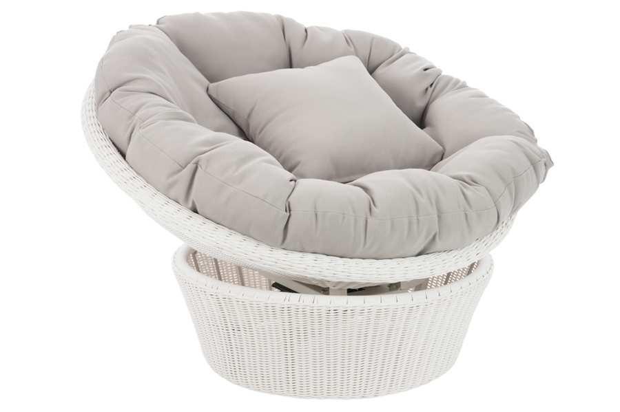 fauteuil cupcake tournant en osier blanc et gris 98x98x64cm Résultat Supérieur 50 Incroyable Fauteuil Osier Rond Galerie 2017 Gst3