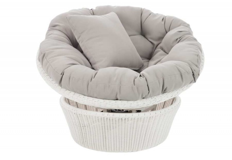 fauteuil cupcake tournant en osier blanc et gris. Black Bedroom Furniture Sets. Home Design Ideas