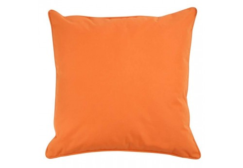 Coussin déhoussable en polyester Orange 45X45Cm