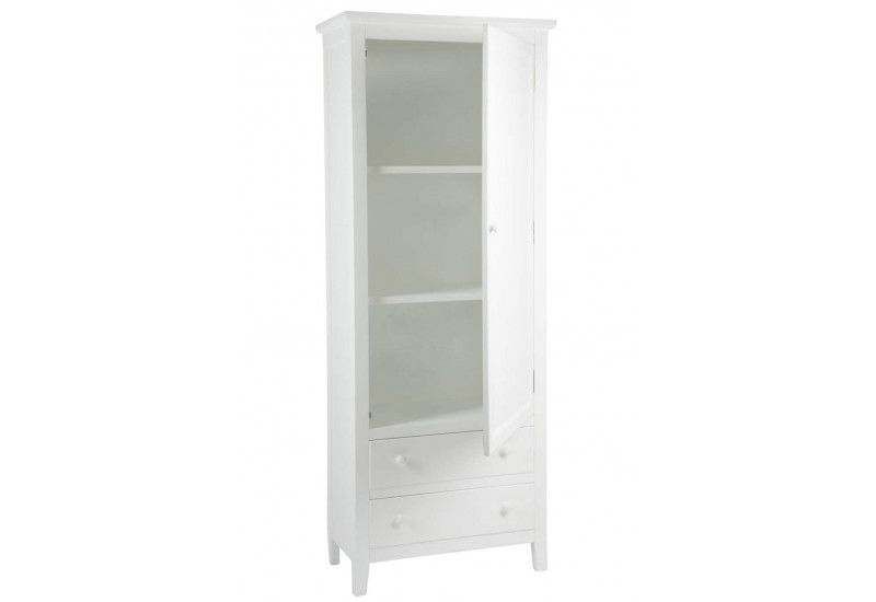 armoire blanche classique chic 1 porte et 2 tiroirs. Black Bedroom Furniture Sets. Home Design Ideas