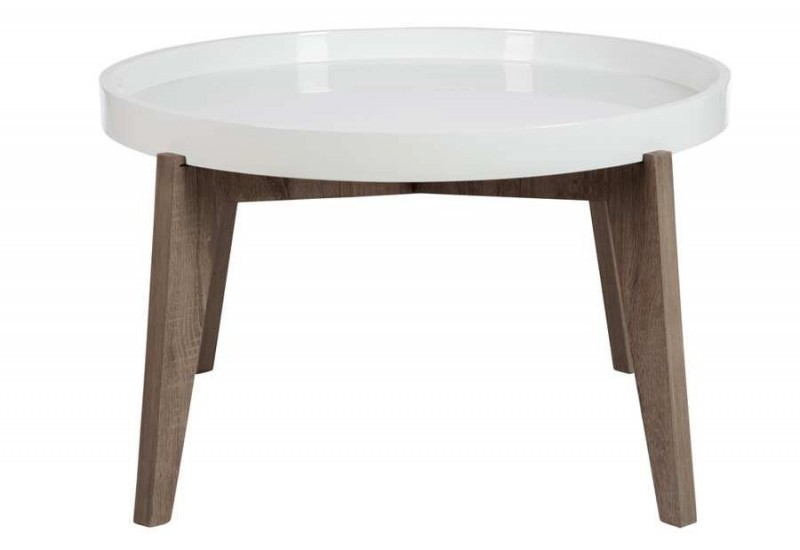 Table d 39 appoint ronde avec plateau en bois bicolore grand - Table d appoint ronde ...