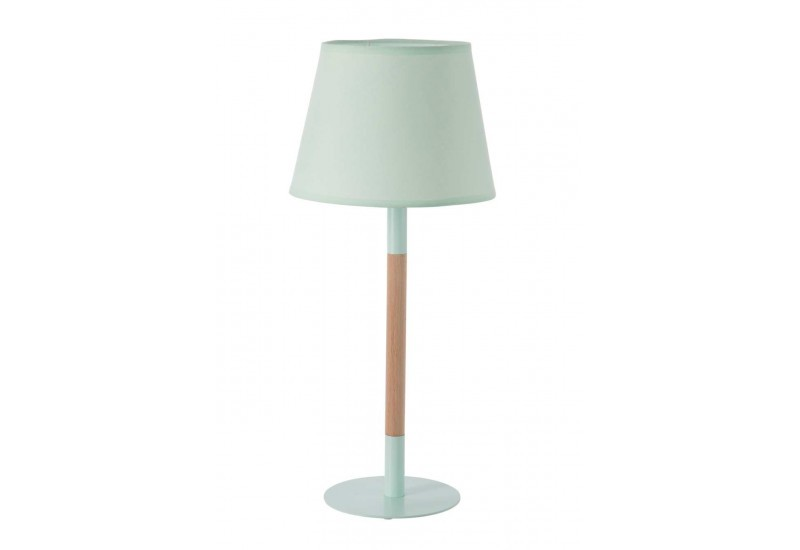 lampe scandinave en bois et m tal vert e14 23x23x52cm j line by jol. Black Bedroom Furniture Sets. Home Design Ideas