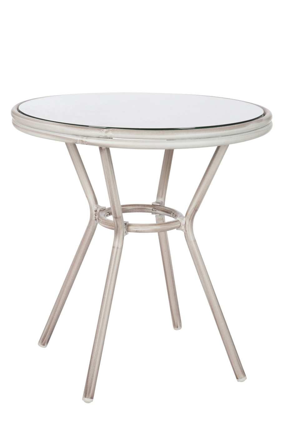 Table Ronde Hilda En Aluminium Grise 70x74cm J Line By Jolipa Jl 62005