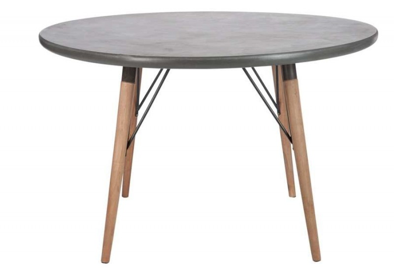 Table ronde scandinave en bois naturel plateau - Table en bois ronde ...