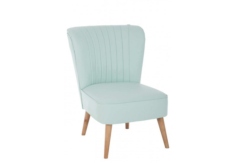Fauteuil cocktail scandinave vert 53x68x78cm j line by - Adresse cocktail scandinave ...